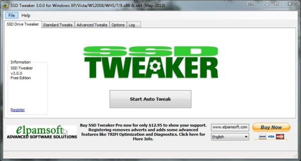 SSD Tweaker for Windows